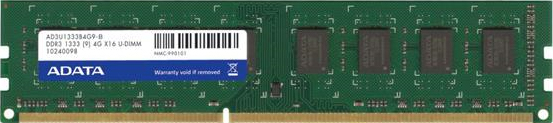 A-DATA DIMM 4GB DDR3-1333 Kit (AD3U1333C2G9-2)