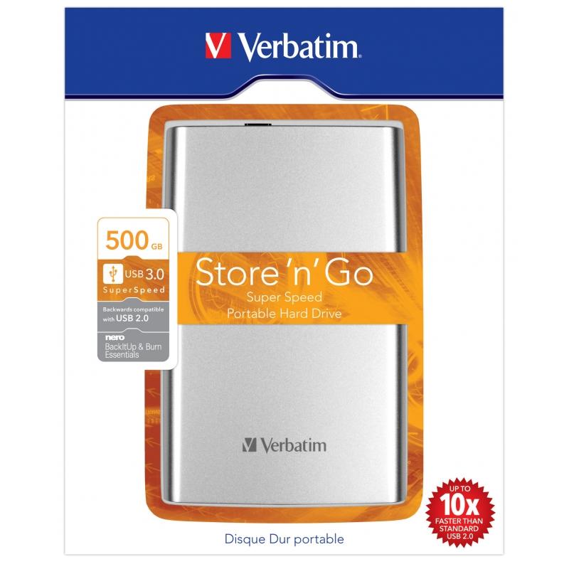 "Verbatim 6,4cm(2,5"") 500GB USB3.0"