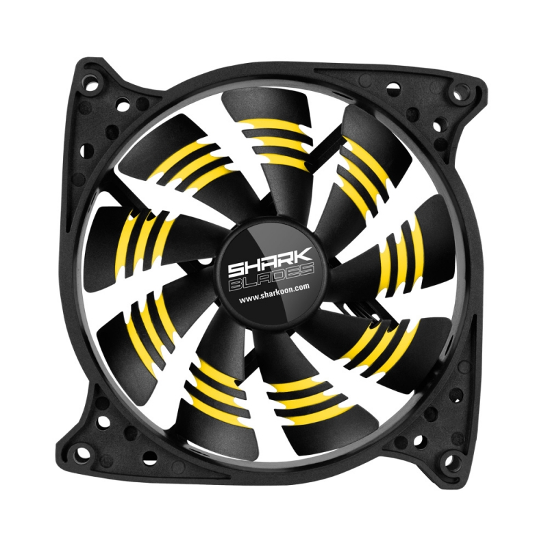 Sharkoon Shark Blades yellow 120x120x25