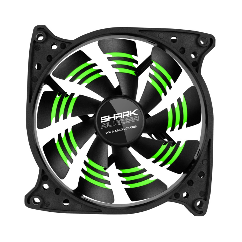 Sharkoon Shark Blades green 120x120x25