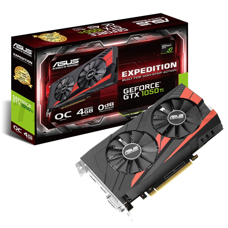 Asus GeForce GTX 1050 Ti Expedition OC