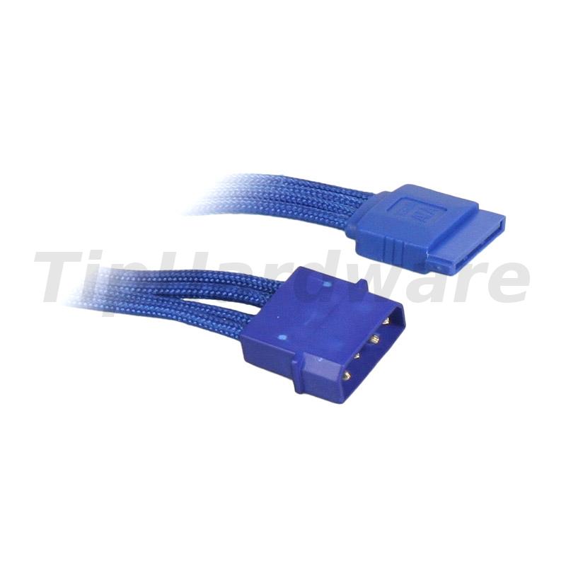 BitFenix Molex na SATA Adapter 45 cm - sleeved blue/blue