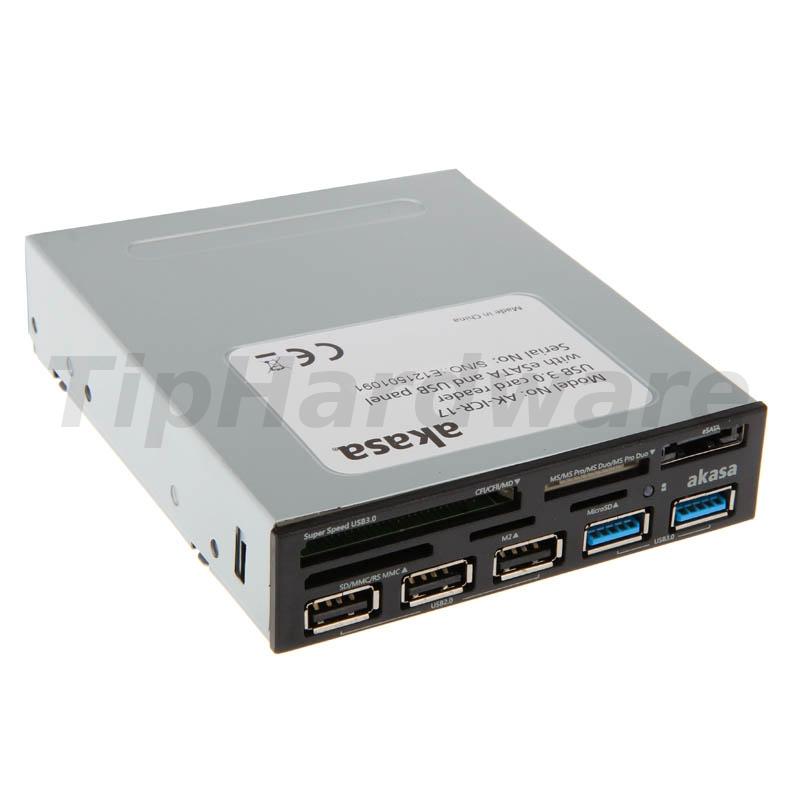 Akasa AK-ICR-17 internal USB 3.0 5-Port Card Reader - black