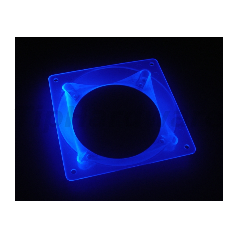 Bitspower Ultimate Fan-Adapter 80/92mm na 120mm - UV blue
