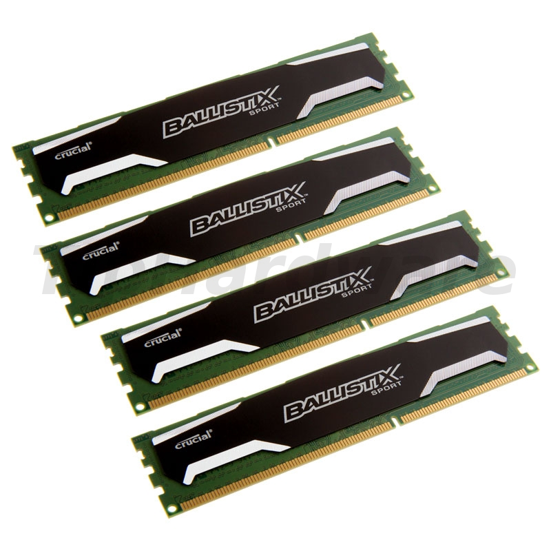 Crucial Ballistix Sport Series DDR3-1600, CL9 - 32GB Kit