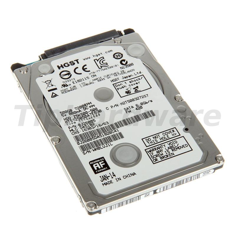 """Hitachi HGST, Travelstar Z5K500, SATA 3G, 5400RPM, 2,5 """" - 500GB"""