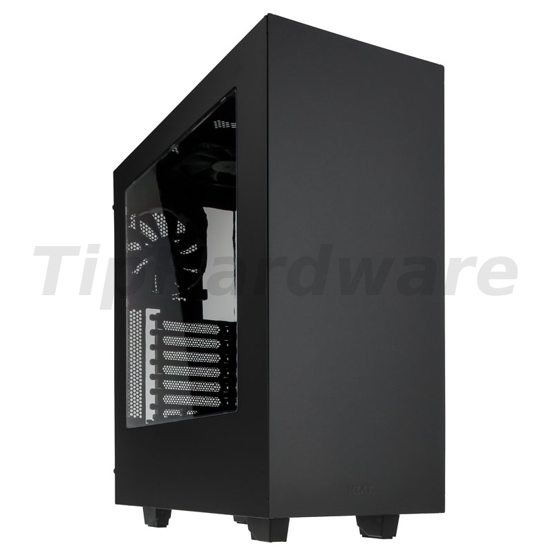 NZXT SOURCE 340 Midi-Tower - black/red Window