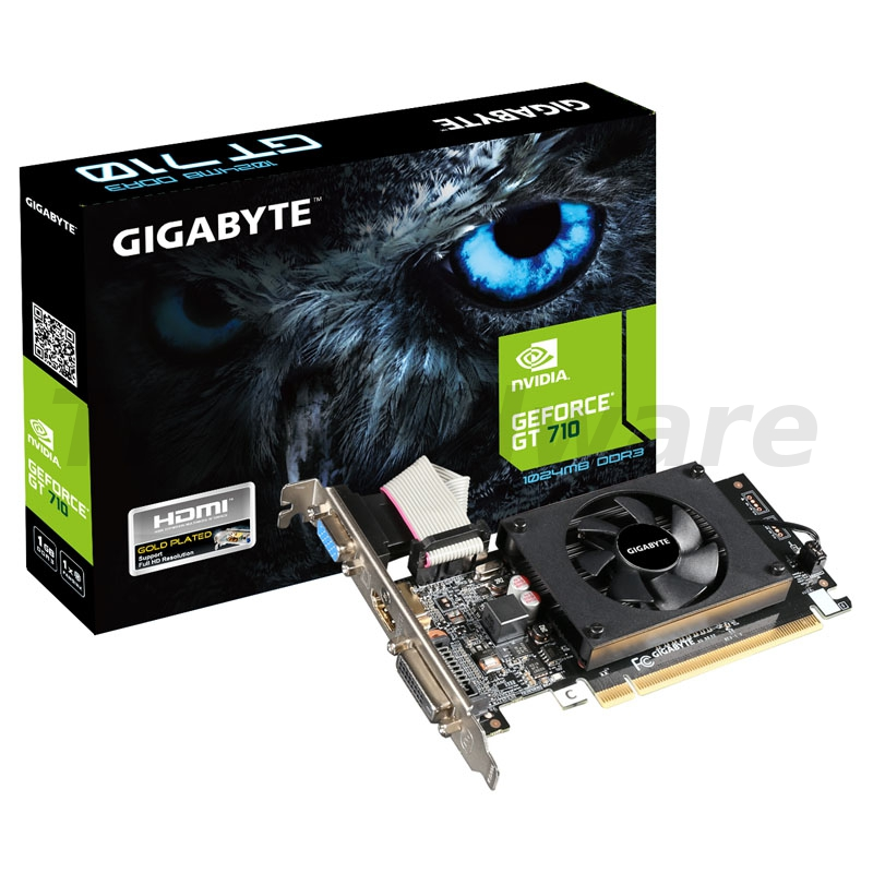 Gigabyte GeForce GT 710, 1024MB DDR3, Low Profile
