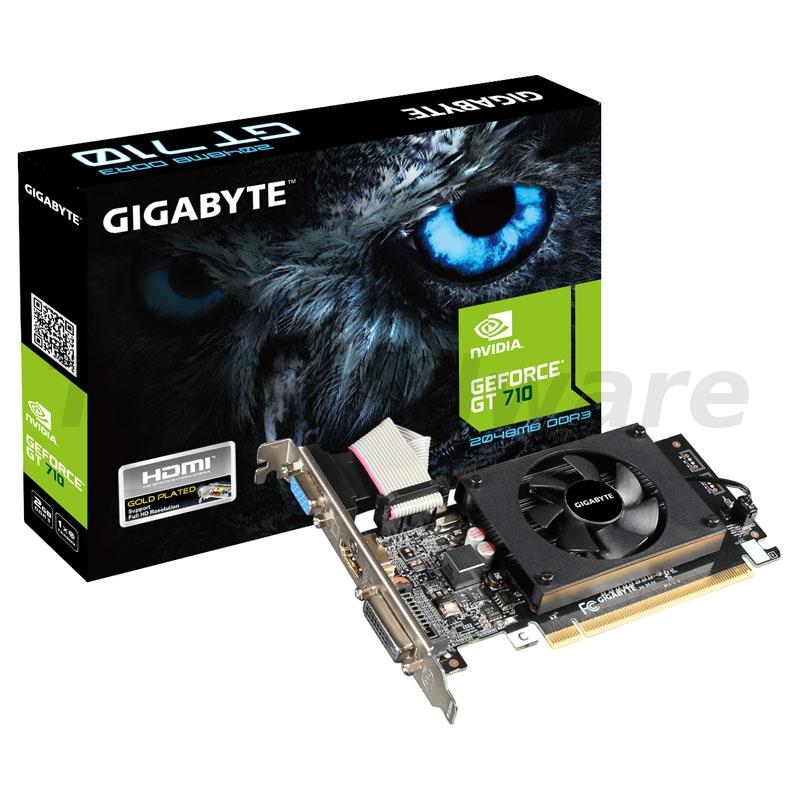 Gigabyte GeForce GT 710, 2048MB DDR3, Low Profile
