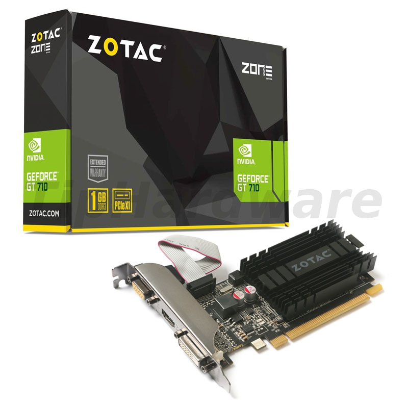 ZOTAC GeForce GT 710, 1024MB DDR3, PCIe x1, Passiv, Low Profile