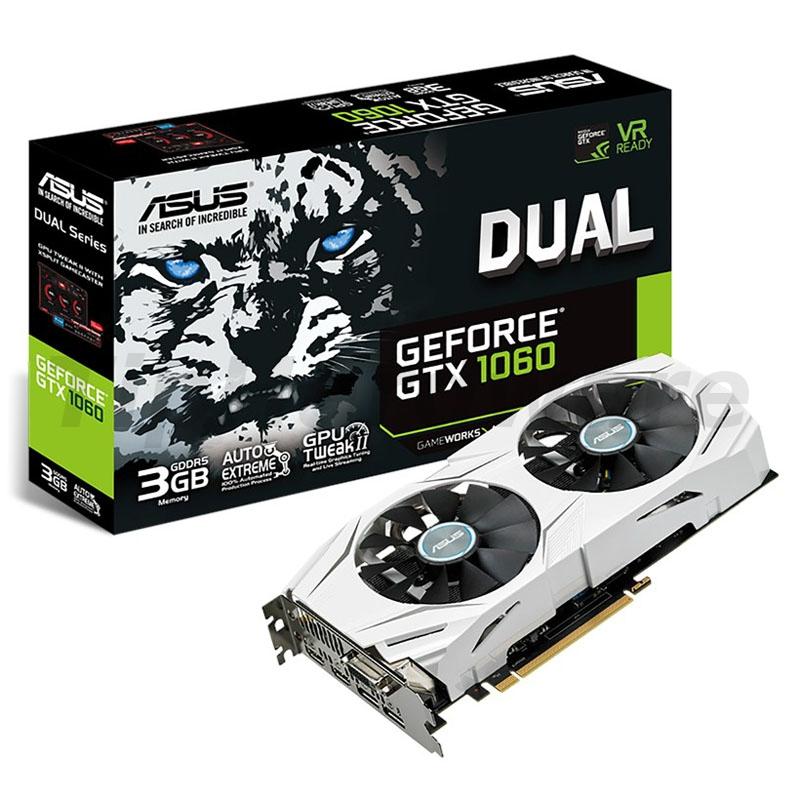 ASUS GeForce GTX 1060 Dual 3G, 3072MB GDDR5
