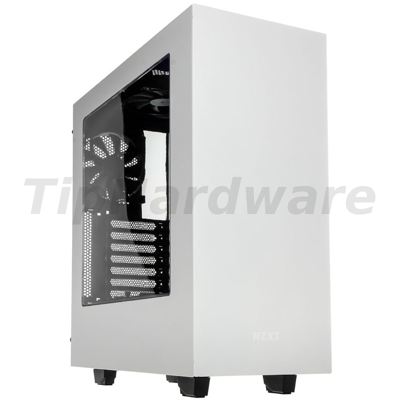 NZXT SOURCE 340 - white/lila Window