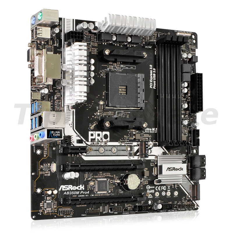ASRock AB350M Pro4, AMD B350, Socket AM4