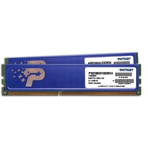 Patriot DIMM 8GB DDR3-1333 Kit (PSD38G1333KH)