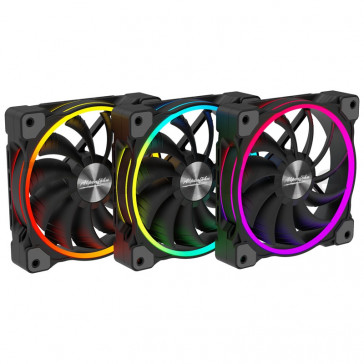 Alpenfohn Wing Boost 3 140mm Addressable RGB PWM Fan - Triple Pack [84000000159]