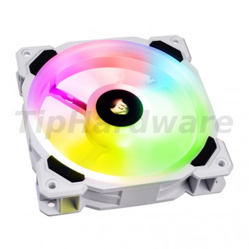 Corsair LL120 RGB, 120mm Dual Light Loop RGB LED PWM Fan - White [CO-9050091-WW]