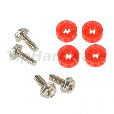 Lamptron HDD Rubber Screws PRO - red