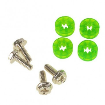 Lamptron HDD Rubber Screws PRO - UV green