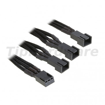 BitFenix 3-Pin na 3x 3-Pin Adapter 60cm - sleeved black/black