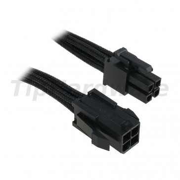 BitFenix 4-Pin ATX12V Extension Cable 45cm - sleeved black/black