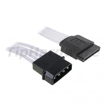BitFenix Molex na SATA Adapter 45 cm - sleeved white/black