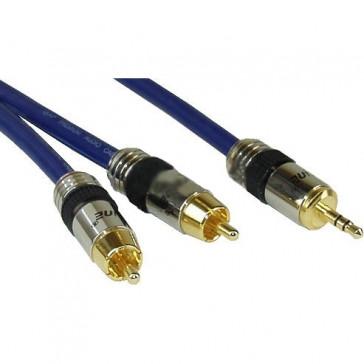 InLine 0.5m 2x RCA/3.5mm Premium