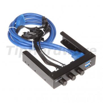 "Akasa 3,5 "" FC06 V2  + 2x USB 3.0 Ports"