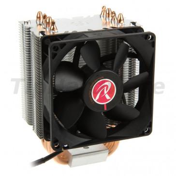 RAIJINTEK Aidos Black, Heatpipe CPU Cooler, PWM - 92mm