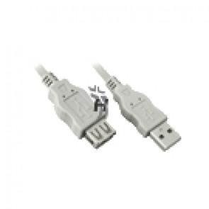 Kabel USB 2.0 prodlužovací 3m béžový