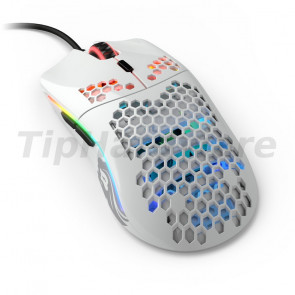 Glorious PC Gaming Race Model O USB RGB Odin Gaming Mouse - Glossy White [GO-GWHITE]