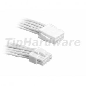 BitFenix 8-Pin EPS12V Extension Cable 45cm - sleeved white/white