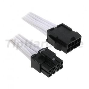 BitFenix 8-Pin EPS12V Extension Cable 45cm - sleeved white/black