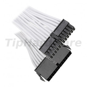 BitFenix 24-Pin ATX Extension Cable 30cm - sleeved white/black
