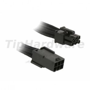 BitFenix 6-Pin PCIe Extension Cable 45cm - sleeved black/black