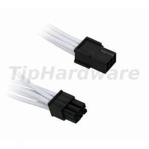 BitFenix 6-Pin PCIe Extension Cable 45cm - sleeved white/black