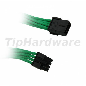 BitFenix 8-Pin PCIe Extension Cable 45cm - sleeved green/black