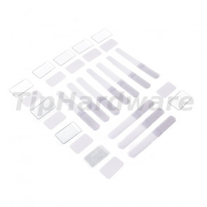 LABEL THE CABLE Mini suchý zip 10ks Set - white